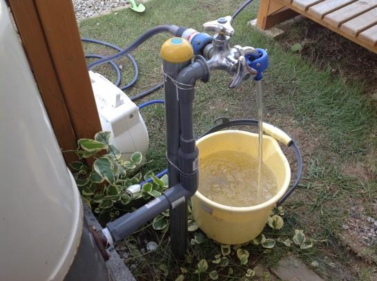 井戸水の揚水量測定