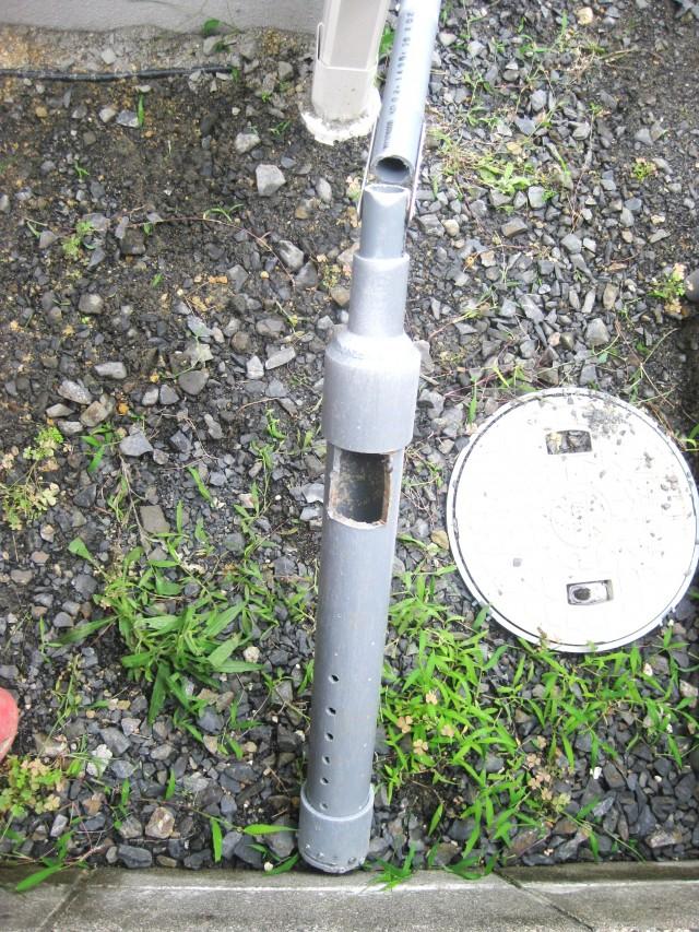 DIY井戸掘りで使った自作井戸掘り器とその使い方の説明