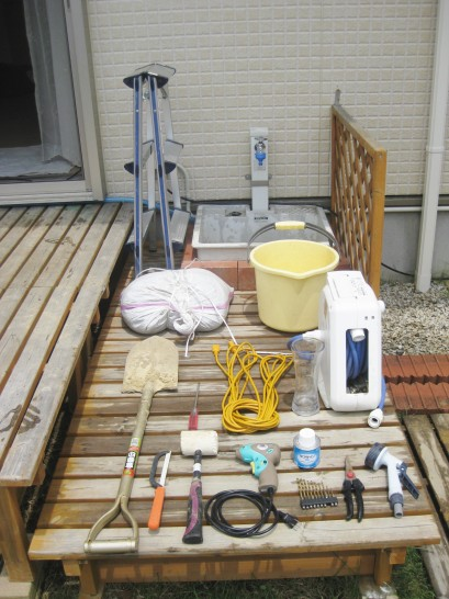 井戸掘り器の道具