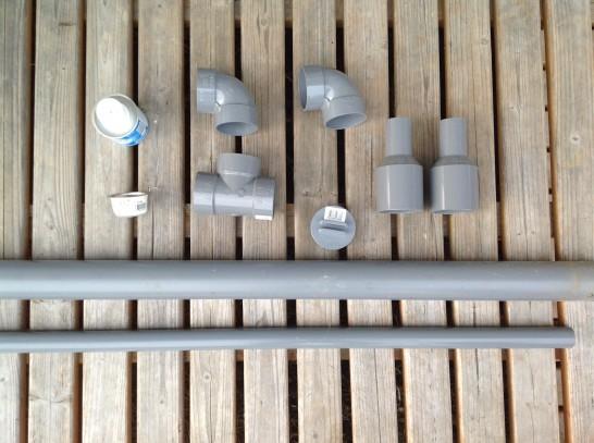 砂こし器を自作するための部材