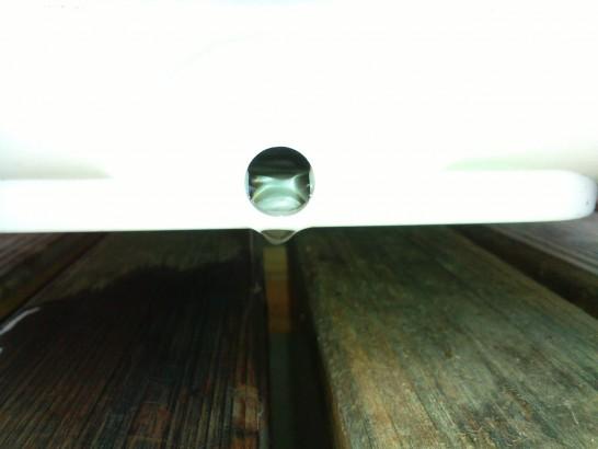 井戸水冷風扇は水タンクの栓を開けっ放し