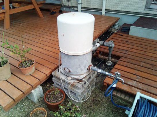 井戸ポンプの電源コード