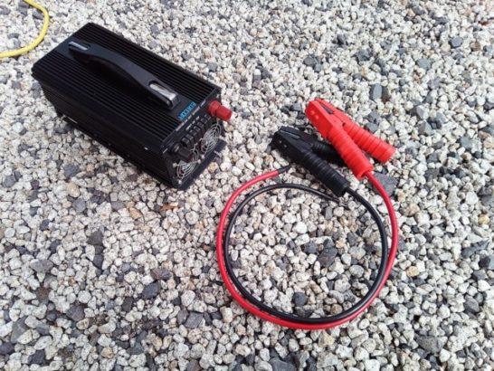 インバーターとバッテリー側配線