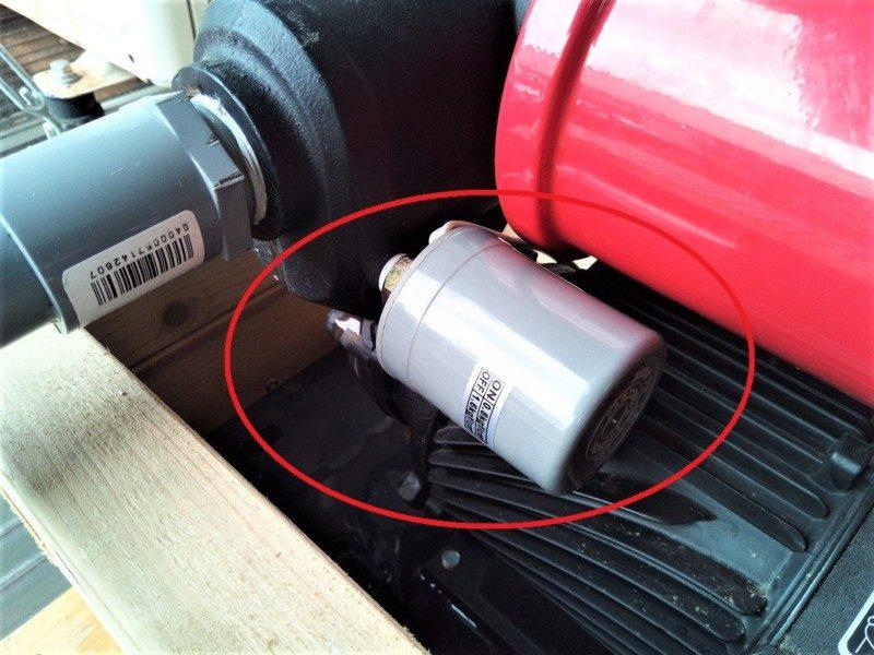 井戸ポンプの圧力スイッチの場所